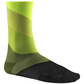 Mavic Graphic Stripes Cycling Socks green/black
